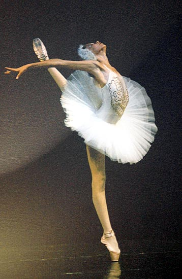 Casa di Fabrizia D'Ottavio, nella foto un quadro di Fabrizia mentre balla.